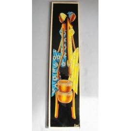 Peinture Africaine sur verre 1