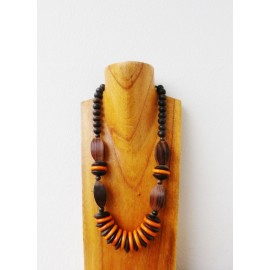 Collier bois orange