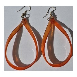 Boucles Corne Orange