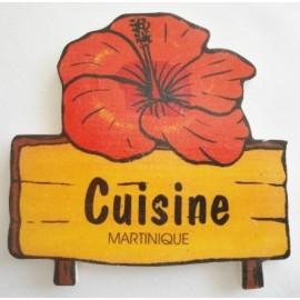Plaque  porte de Cuisine Martinique