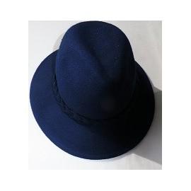 Chapeau feutrine bleu