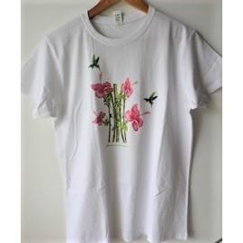 Tee-Shirt  Colibris/Hibiscus